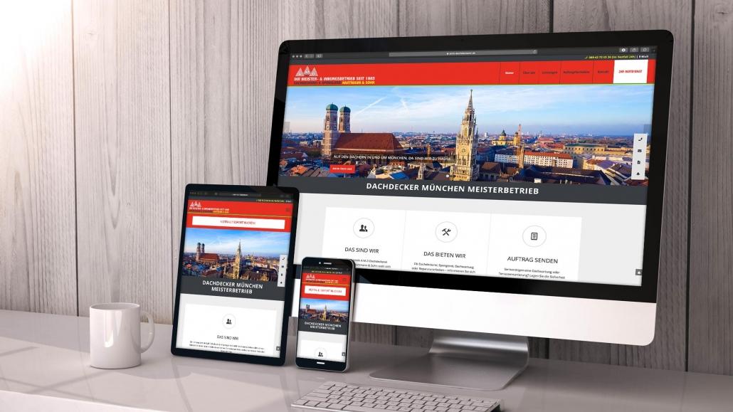 A.M.D. Dachdeckerei Spenglerei GmbH Webdesign
