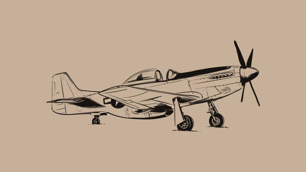 North American P51-D Mustang Illustration