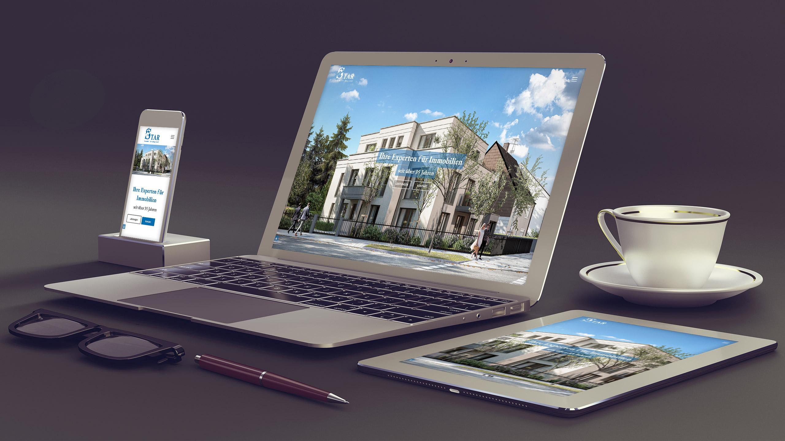 STAR Immobilien Webdesign