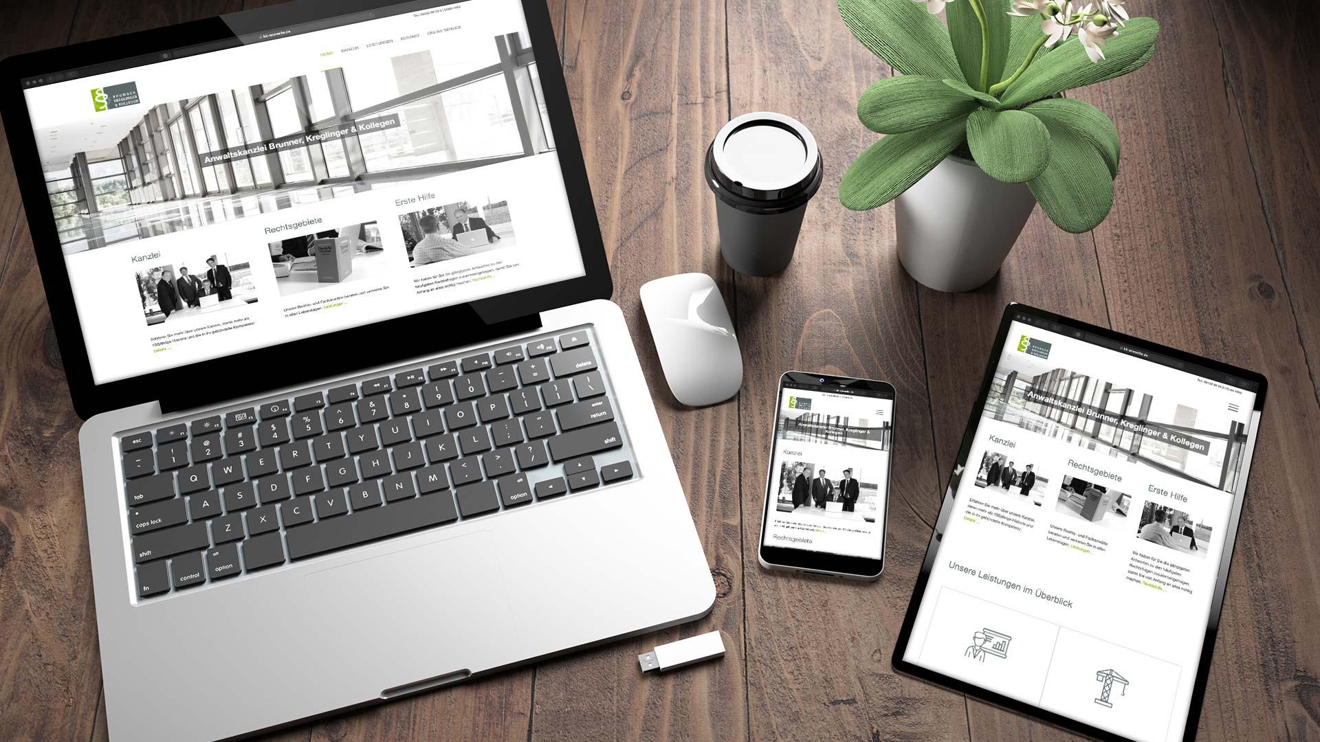 Anwaltskanzlei Brunner, Kreglinger & Kollegen Responsive Webdesign