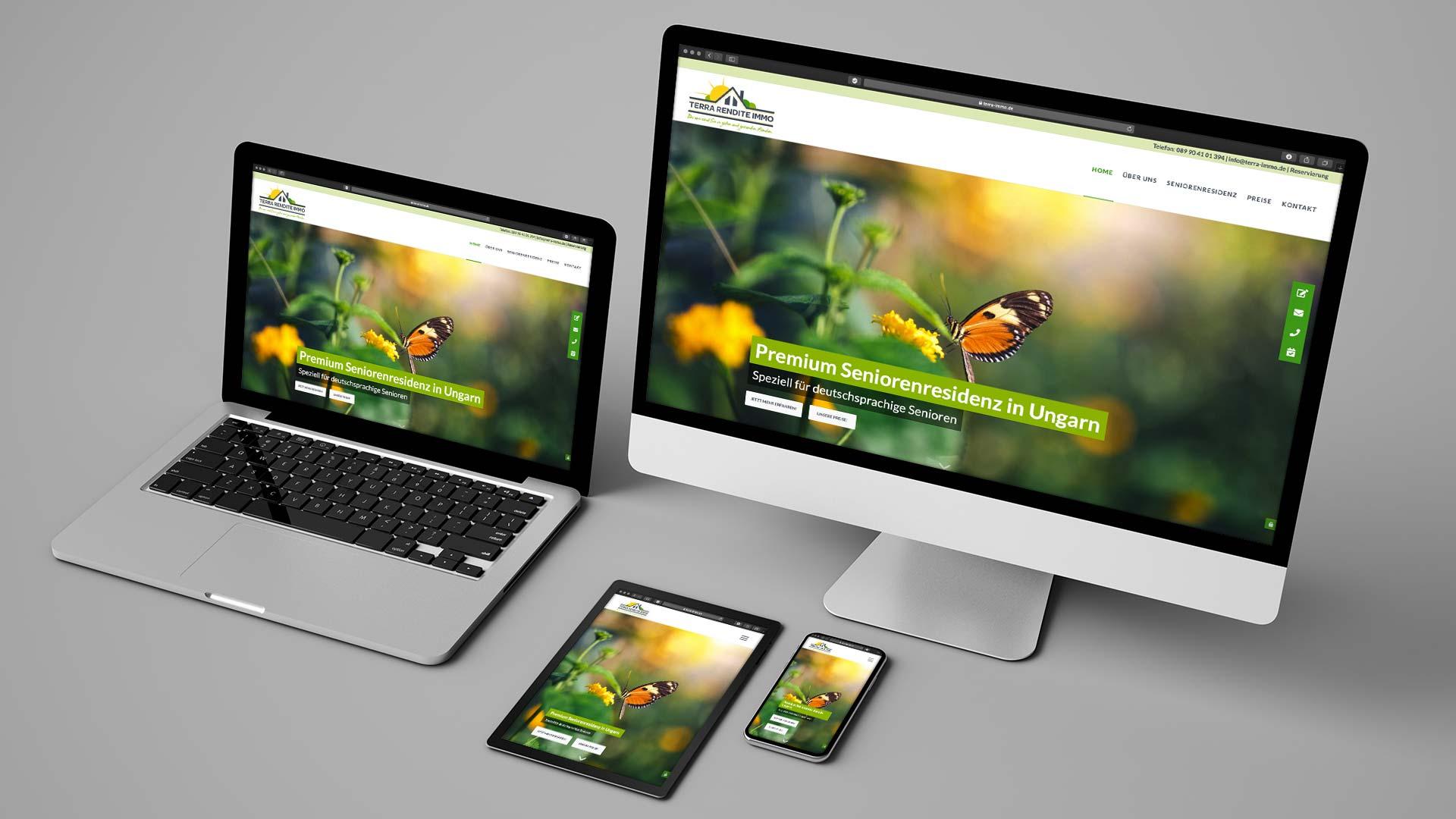 Terra Rendite Immo AG Webdesign