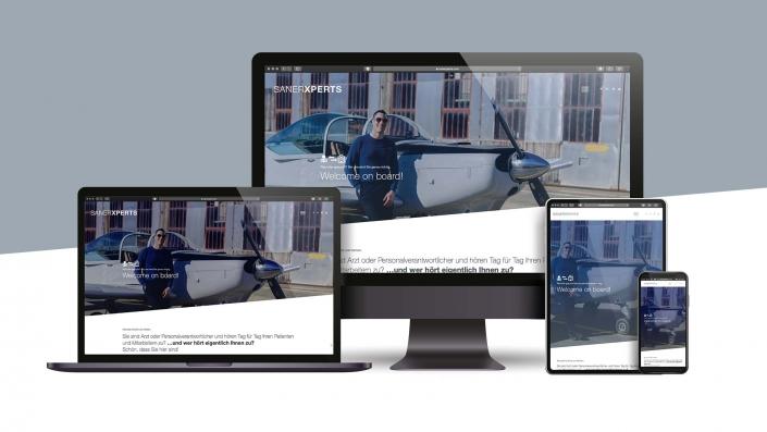 SANERXPERTS Responsive Webdesign