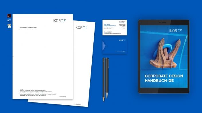IKOR Corporate Design Geschäftsausstattung