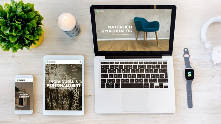Webdesign Malermeister Schwaiger München, Sauerlach