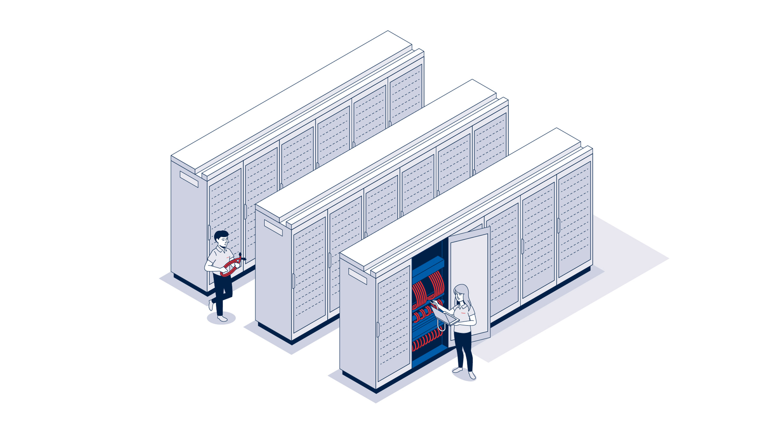 Rosenberger OSI Flatdesign Illustrationen
